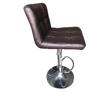 Brown Faux Leather Bar Stools