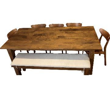 Crate & Barrel Basque 7-Piece Dining Set