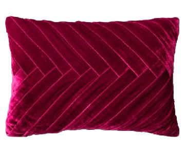 Target Opalhouse Merlot Velvet Pillows