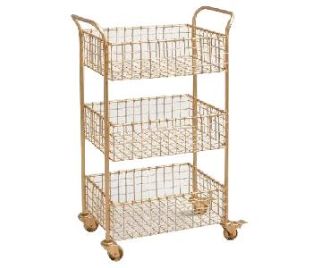 World Market Gold Cart