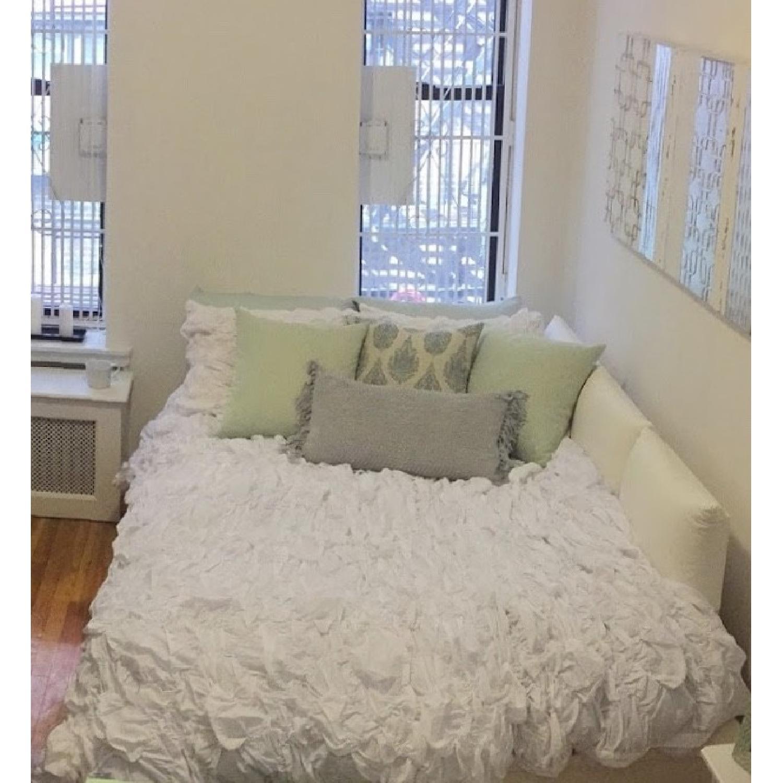 Pottery Barn Teen White Platform Full Bed-0