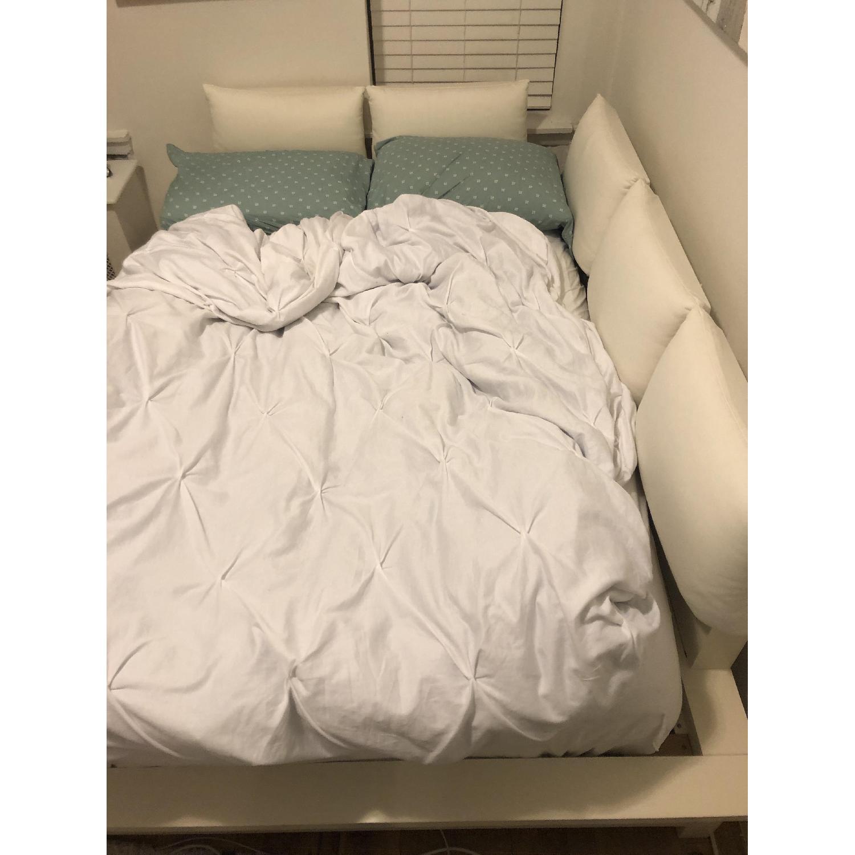 Pottery Barn Teen White Platform Full Bed-2