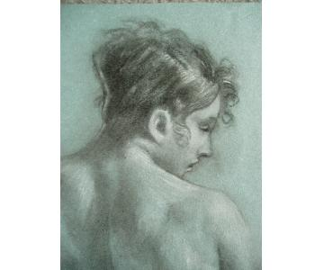 Pastel Drawing - After Prud'hon Marguerite
