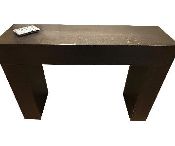 West Elm Dark Wood Console Table