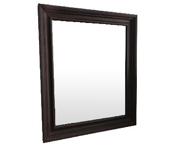 Rectangular Mirror w/ Dark Wood Frame