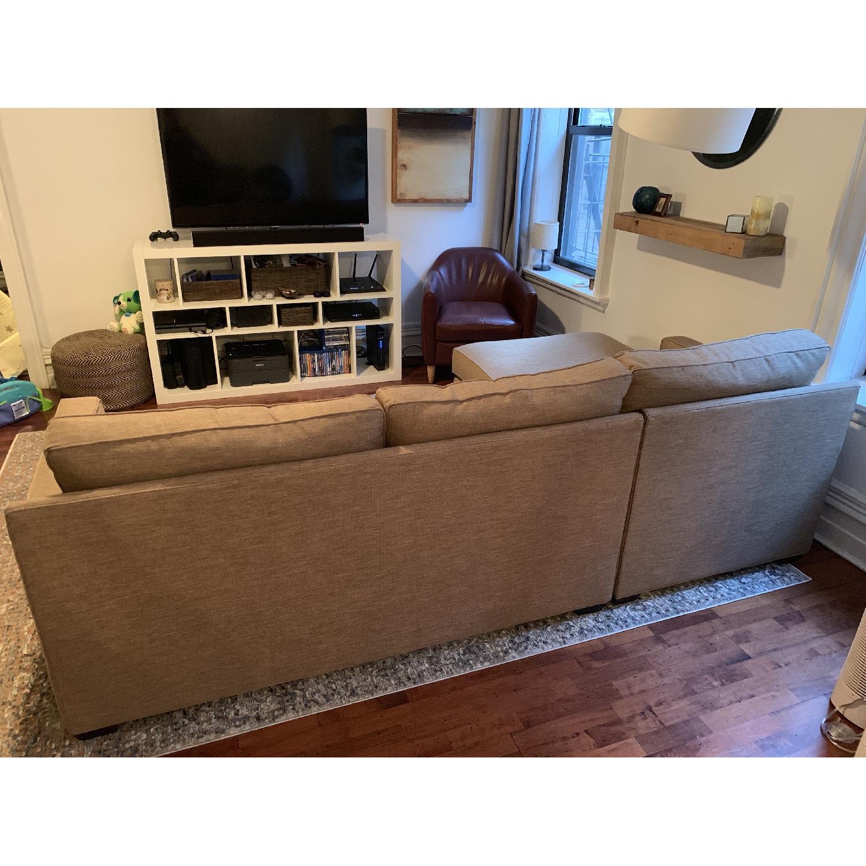 Crate & Barrel Davis 2 Piece Sectional Sofa-0