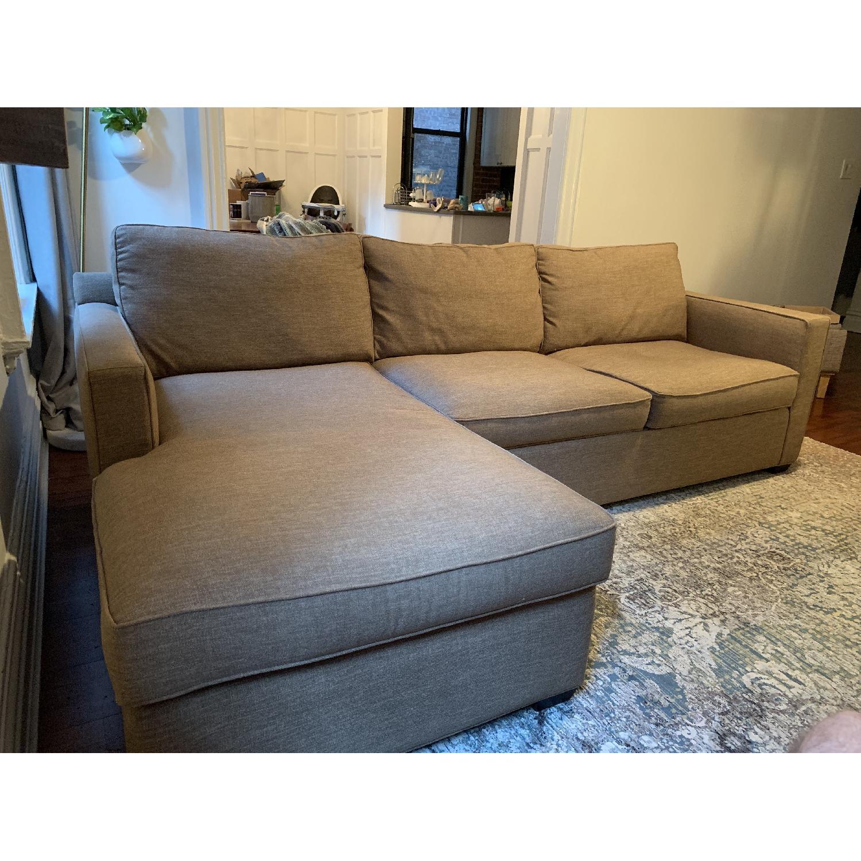 Crate & Barrel Davis 2 Piece Sectional Sofa-3
