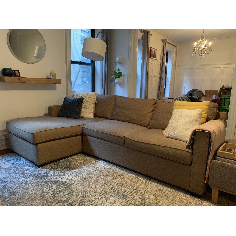Crate & Barrel Davis 2 Piece Sectional Sofa-5