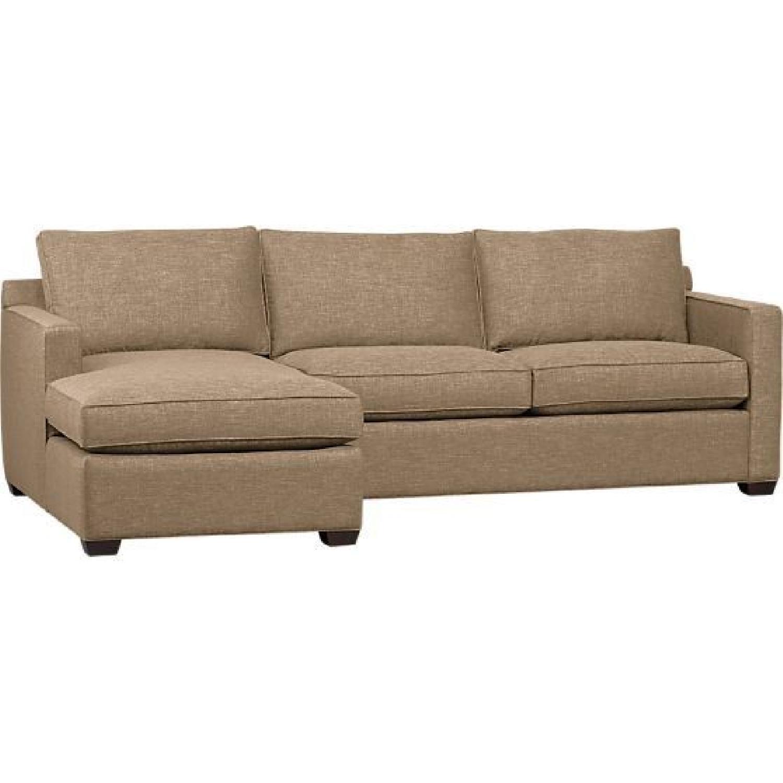 Crate & Barrel Davis 2 Piece Sectional Sofa