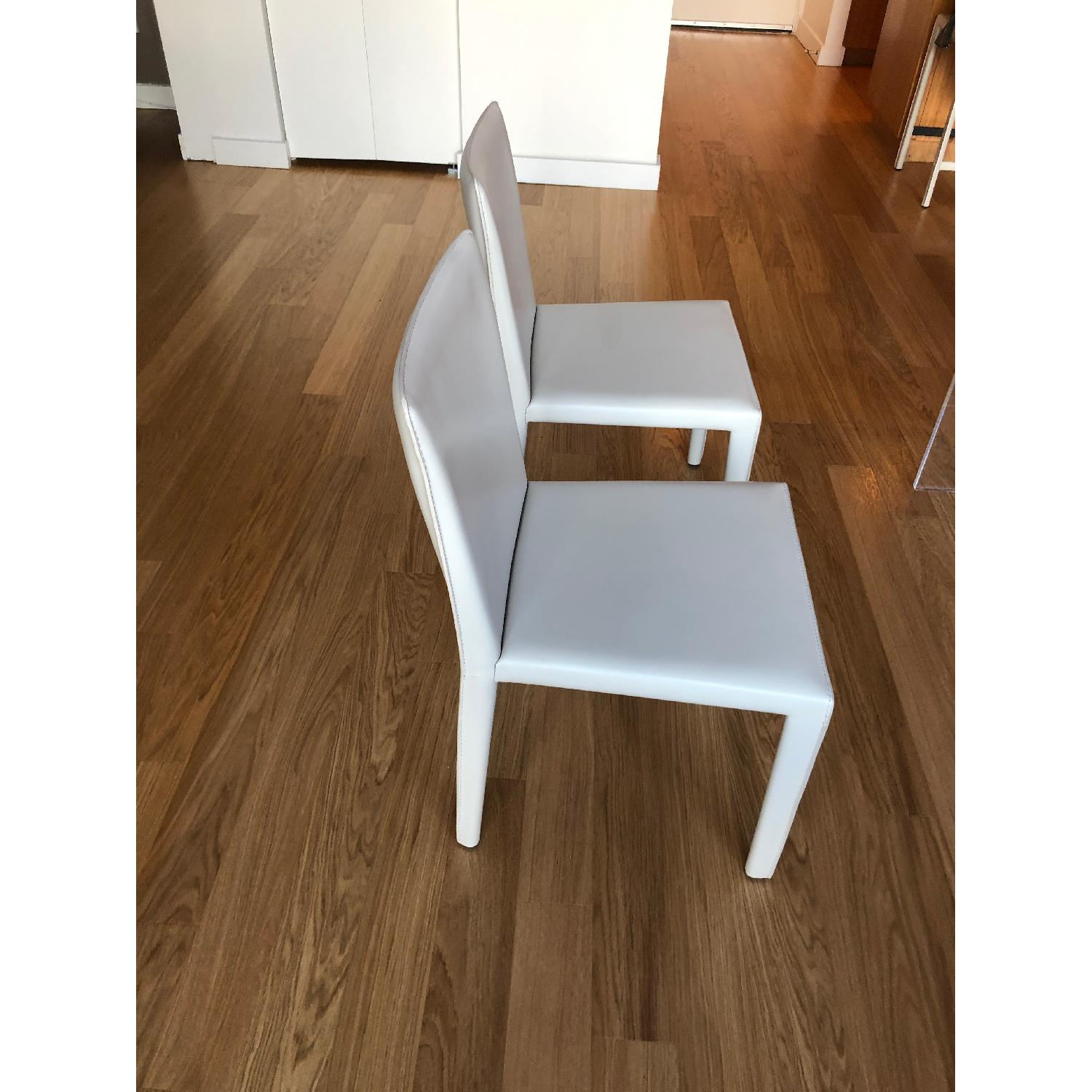 Room & Board Sava Dining Chairs in Ivory Leather-0