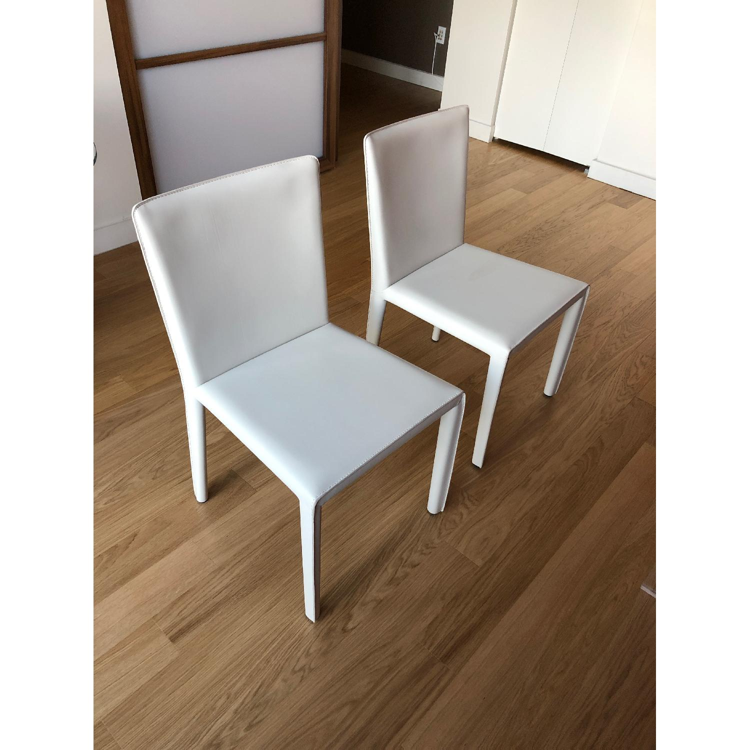 Room & Board Sava Dining Chairs in Ivory Leather-1