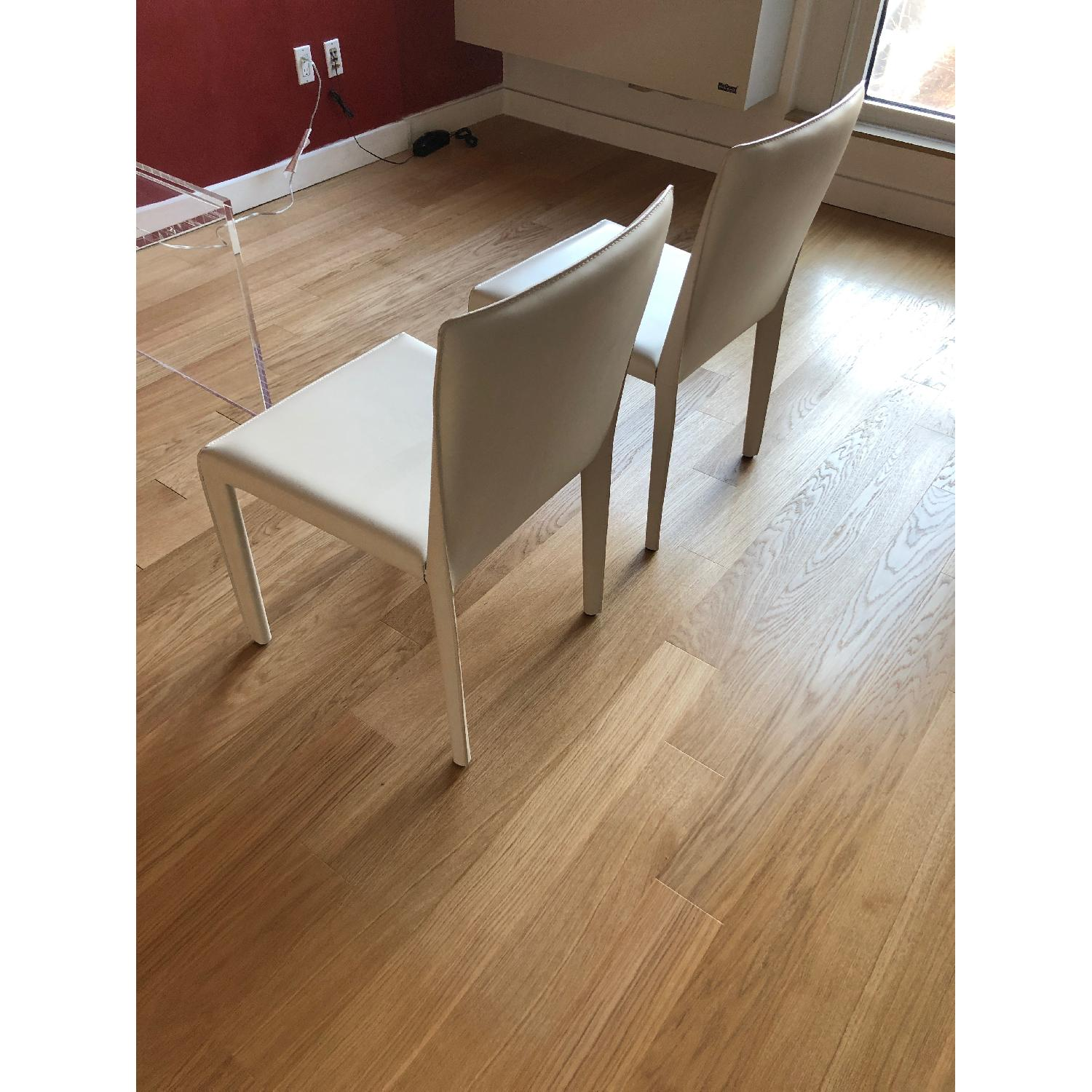 Room & Board Sava Dining Chairs in Ivory Leather-2