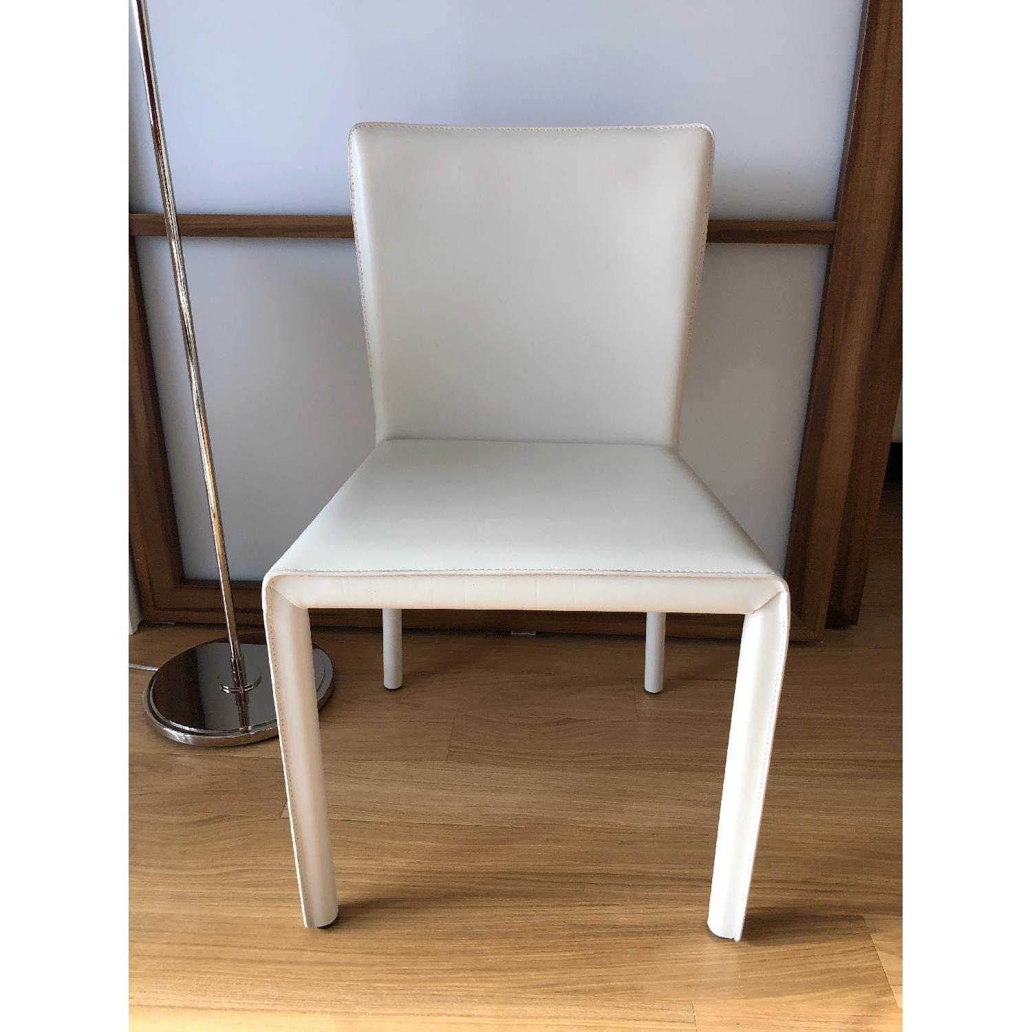 Room & Board Sava Dining Chairs in Ivory Leather-3