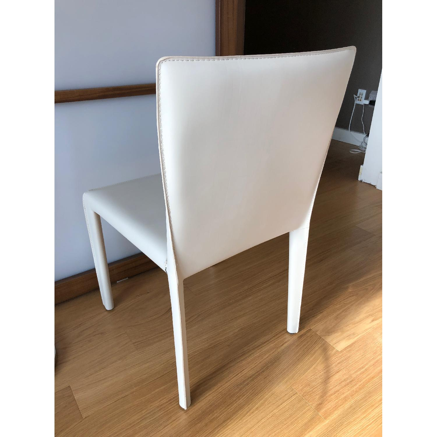 Room & Board Sava Dining Chairs in Ivory Leather-5