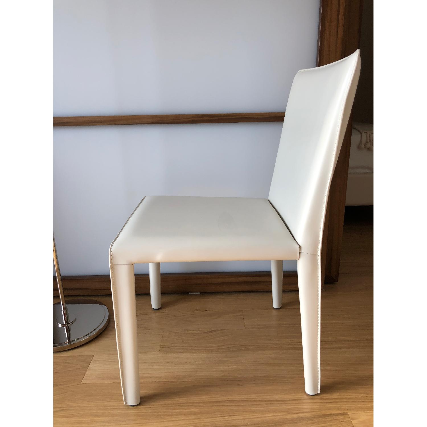 Room & Board Sava Dining Chairs in Ivory Leather-6