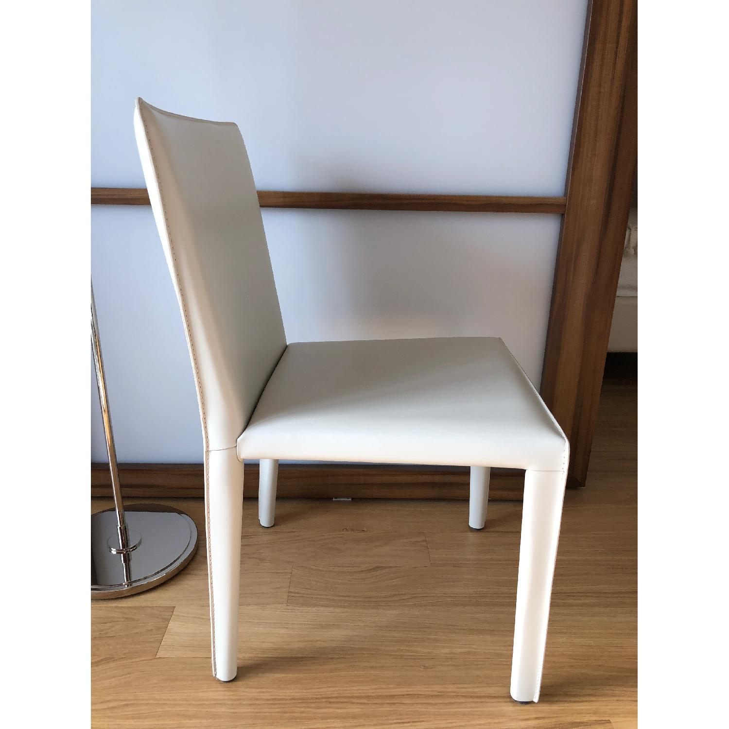Room & Board Sava Dining Chairs in Ivory Leather-7