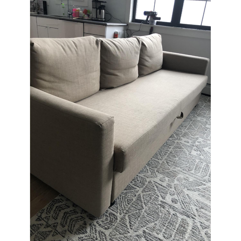 Ikea Friheten Beige Sleeper Sofa w/ Storage-2