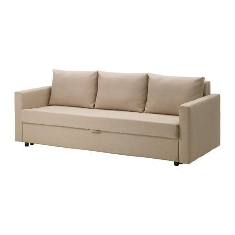 Ikea Friheten Beige Sleeper Sofa w/ Storage
