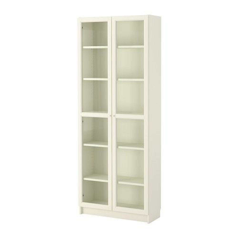 Ikea Billy Bookcase w/ Glass Doors
