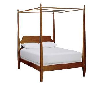 Ethan Allen Barrett 4 Poster Bed w/ Canopy