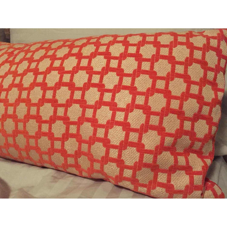 Orange Geometric Throw Pillows - image-4
