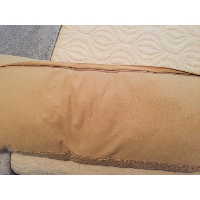Bonjour Burlap Decorative Pillow - image-4