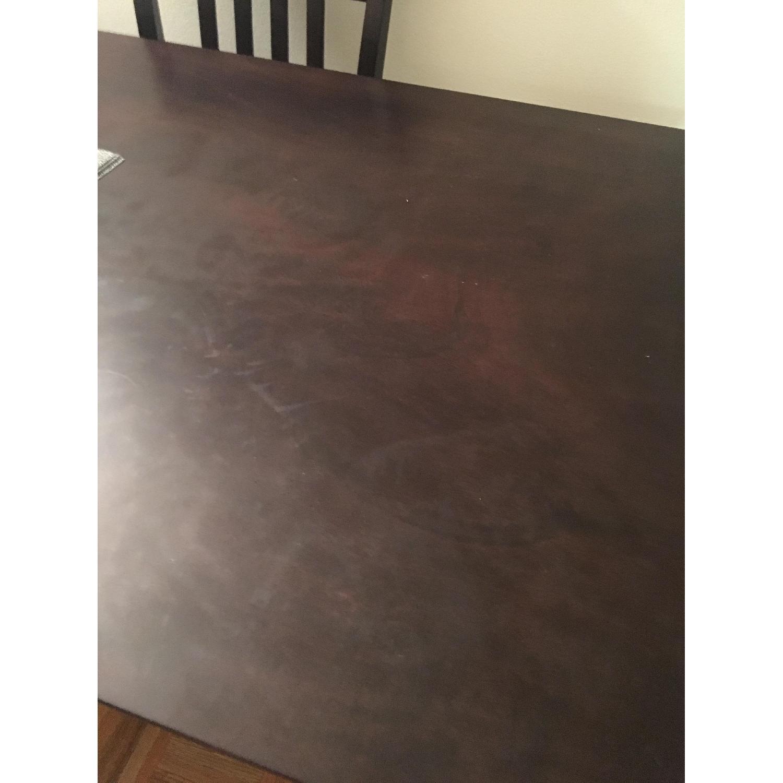 Dark Brown 5 Piece Wood Dining Set - image-4