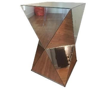 West Elm Faceted Mirrored Stool