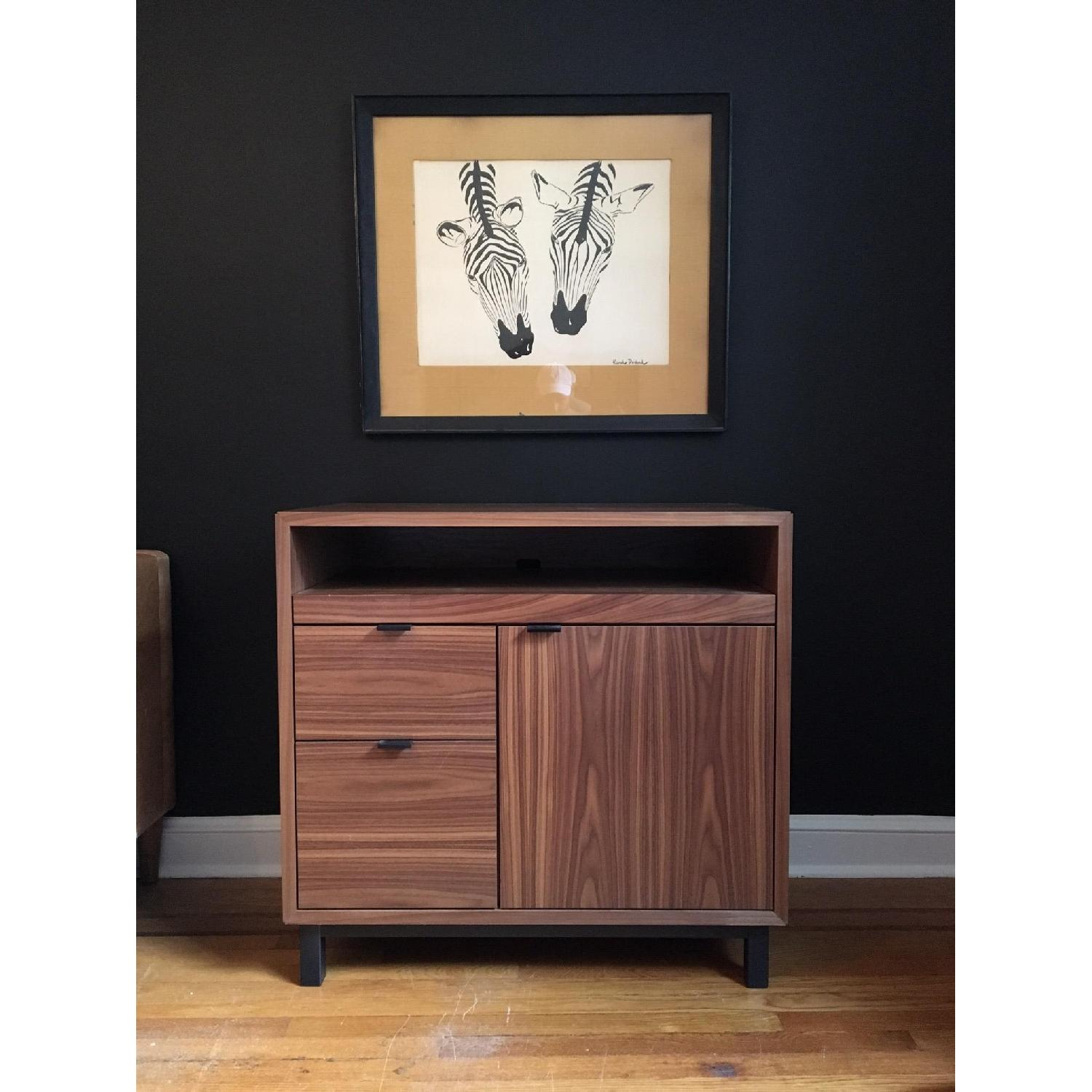 Room & Board Copenhagen Office Walnut Armoire Desk - image-1