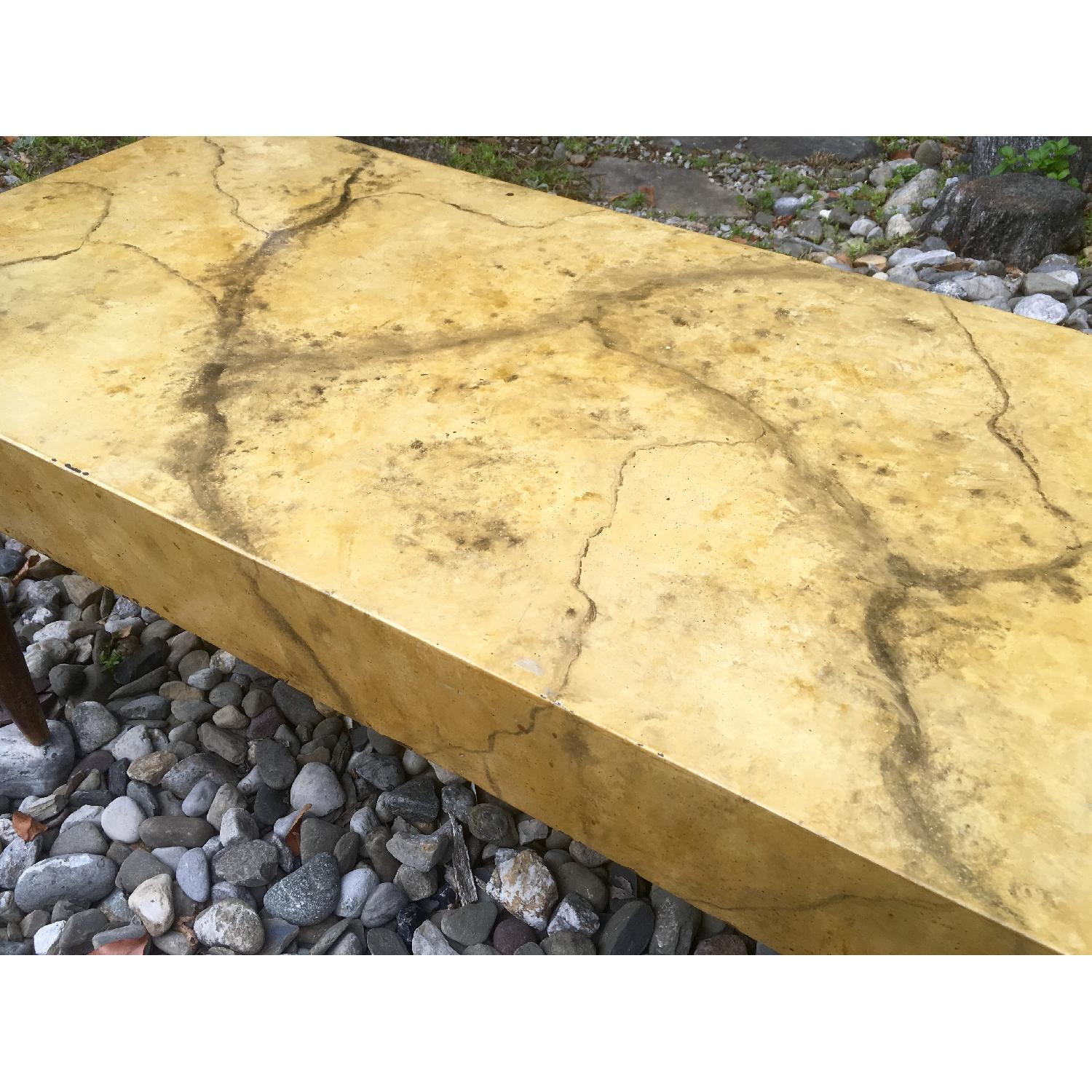 1940's Hollywood Regency Faux Marble Coffee Table - image-2