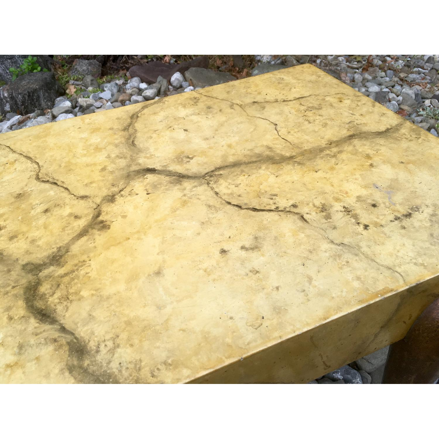1940's Hollywood Regency Faux Marble Coffee Table - image-6