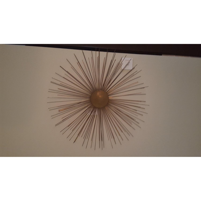 Brass Starburst Wall Sculpture - image-1
