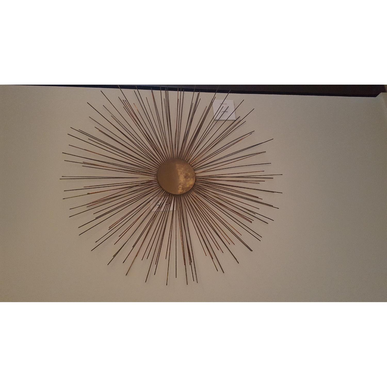 Brass Starburst Wall Sculpture - image-3