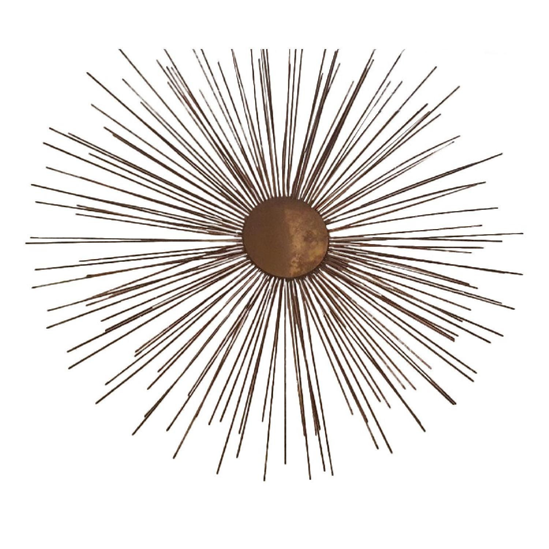 Brass Starburst Wall Sculpture - image-0