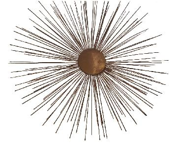 Brass Starburst Wall Sculpture