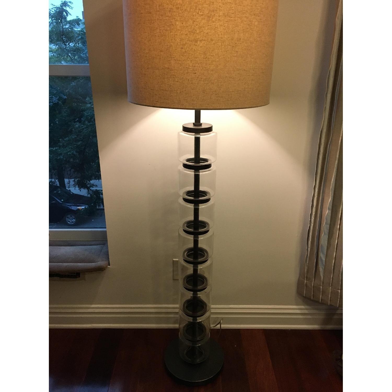 West Elm Stacked Glass Cylinder Lamp - image-1