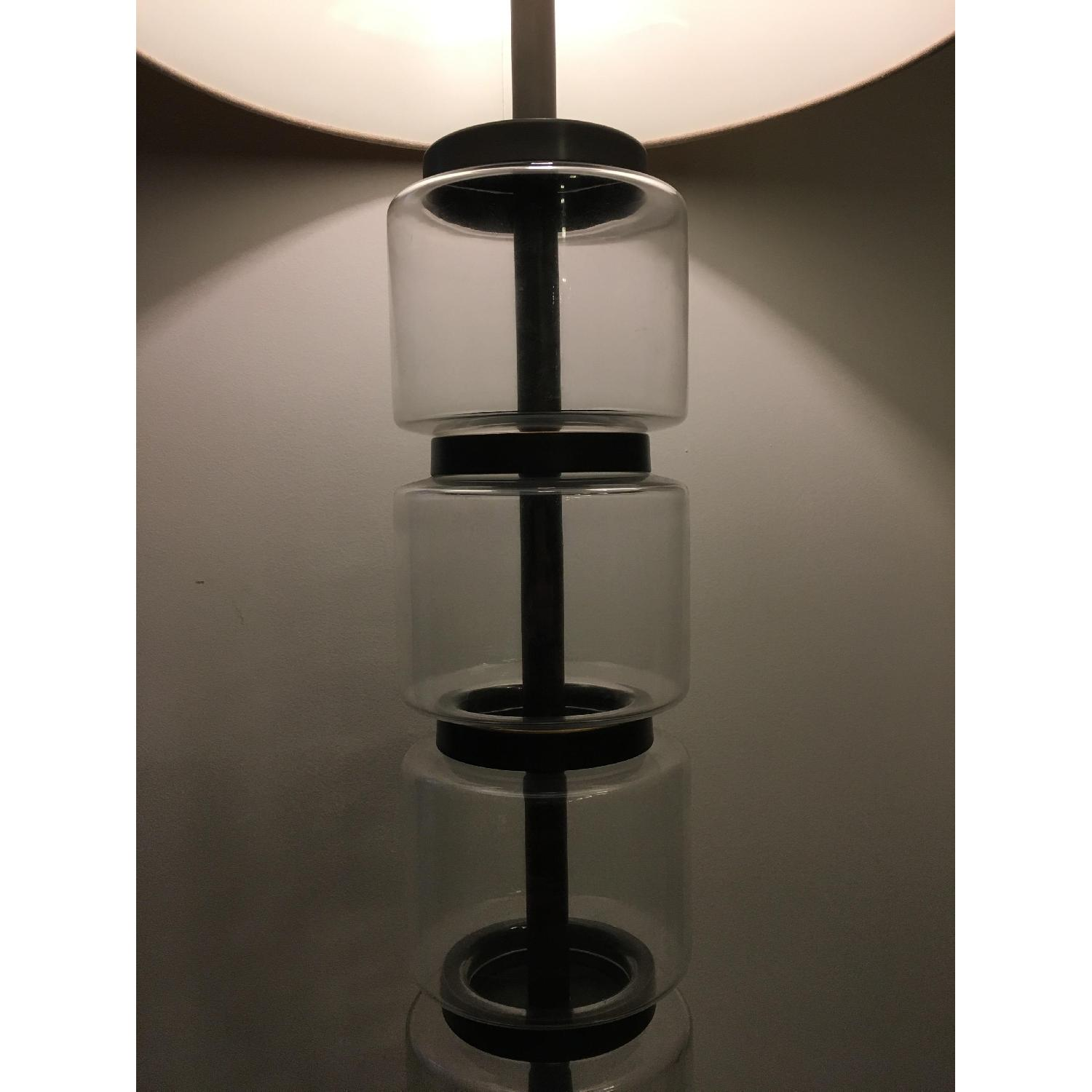 West Elm Stacked Glass Cylinder Lamp - image-3