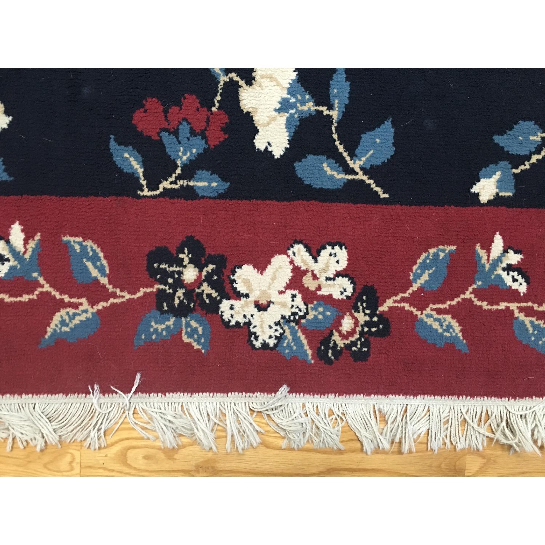 Vintage Floral Print Room Size Rug - image-2