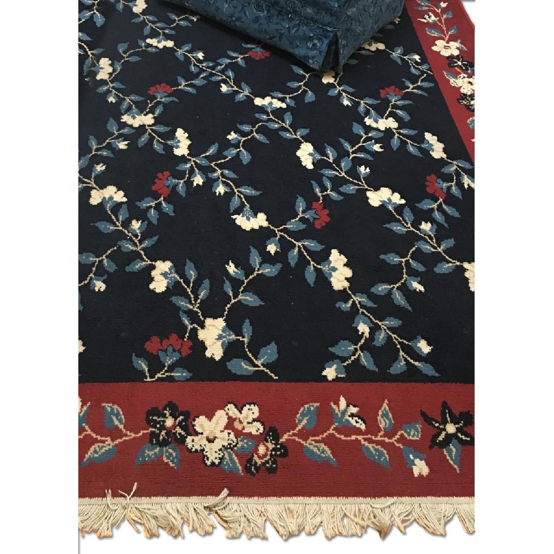 Vintage Floral Print Room Size Rug - image-0