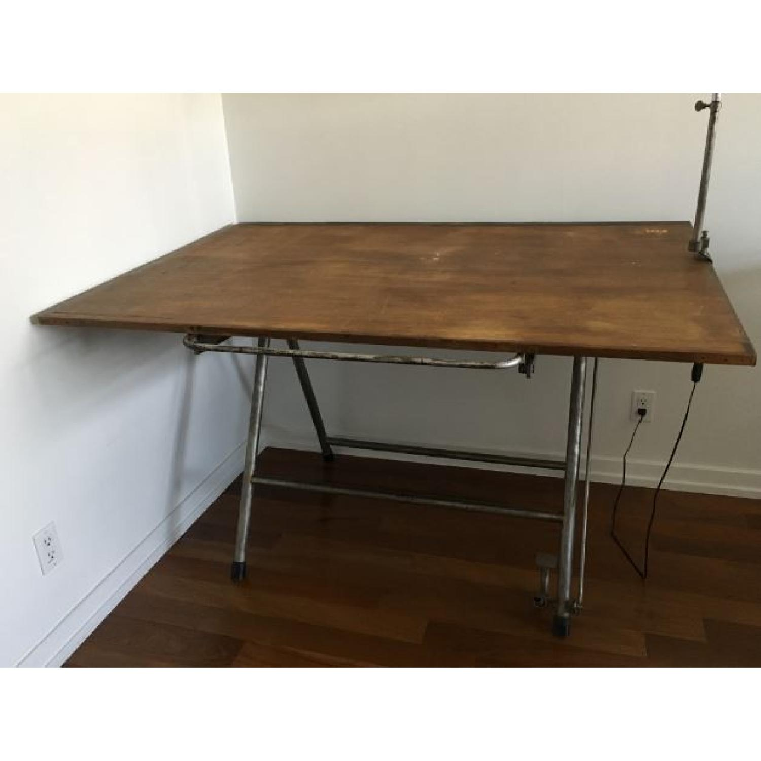 Vintage Industrial Architect Table - image-1