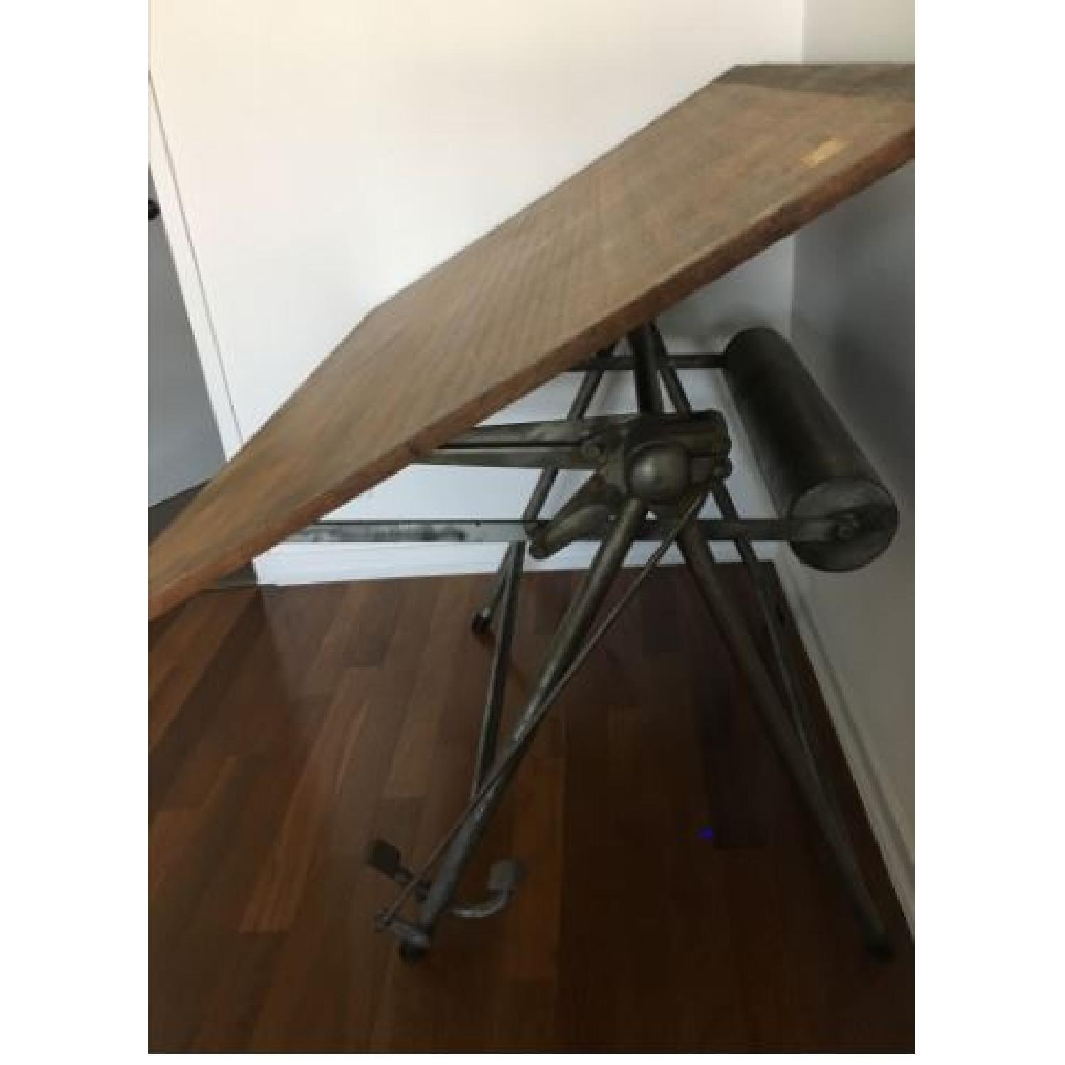 Vintage Industrial Architect Table - image-2