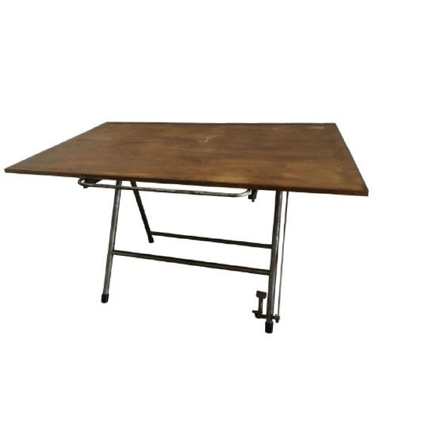 Vintage Industrial Architect Table - image-0