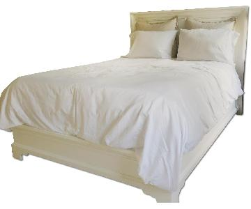 Wood White Queen Size Bed Frame