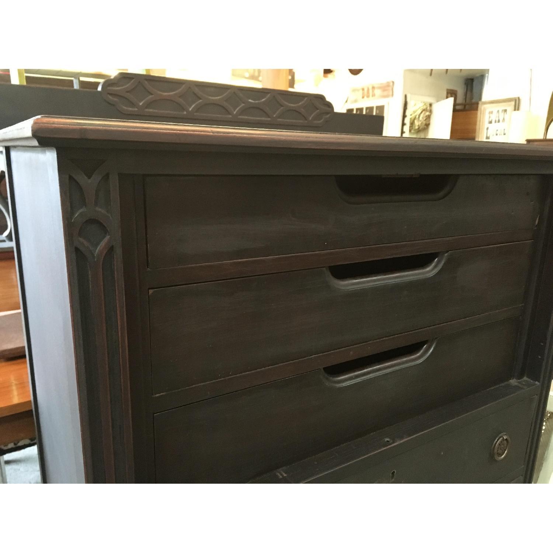 Picture of: Antique Black Highboy Dresser Aptdeco
