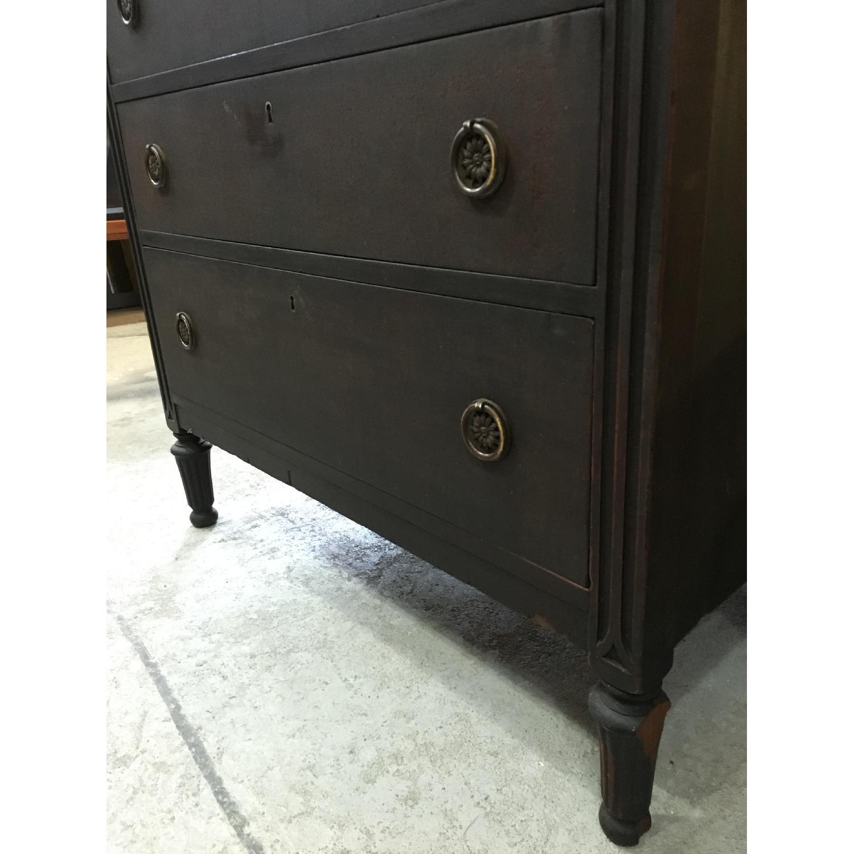 Antique Black Highboy Dresser - image-3