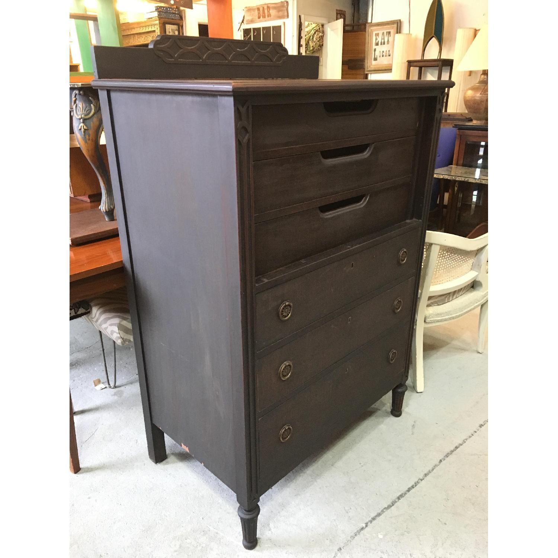 Antique Black Highboy Dresser - image-4