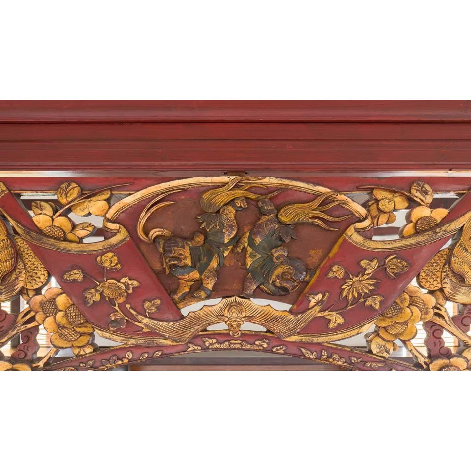 Chinese Wedding Lacquer Gilt Six-Posted Carved Canopy Bed in - image-6