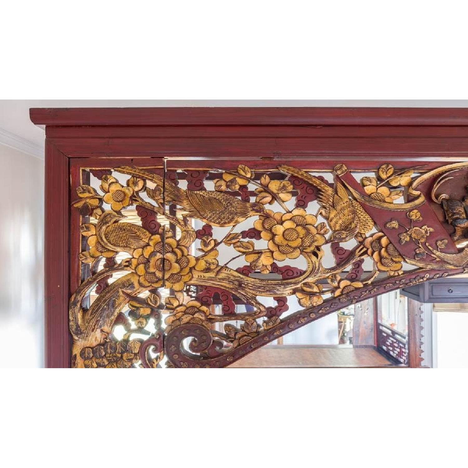 Chinese Wedding Lacquer Gilt Six-Posted Carved Canopy Bed in - image-7