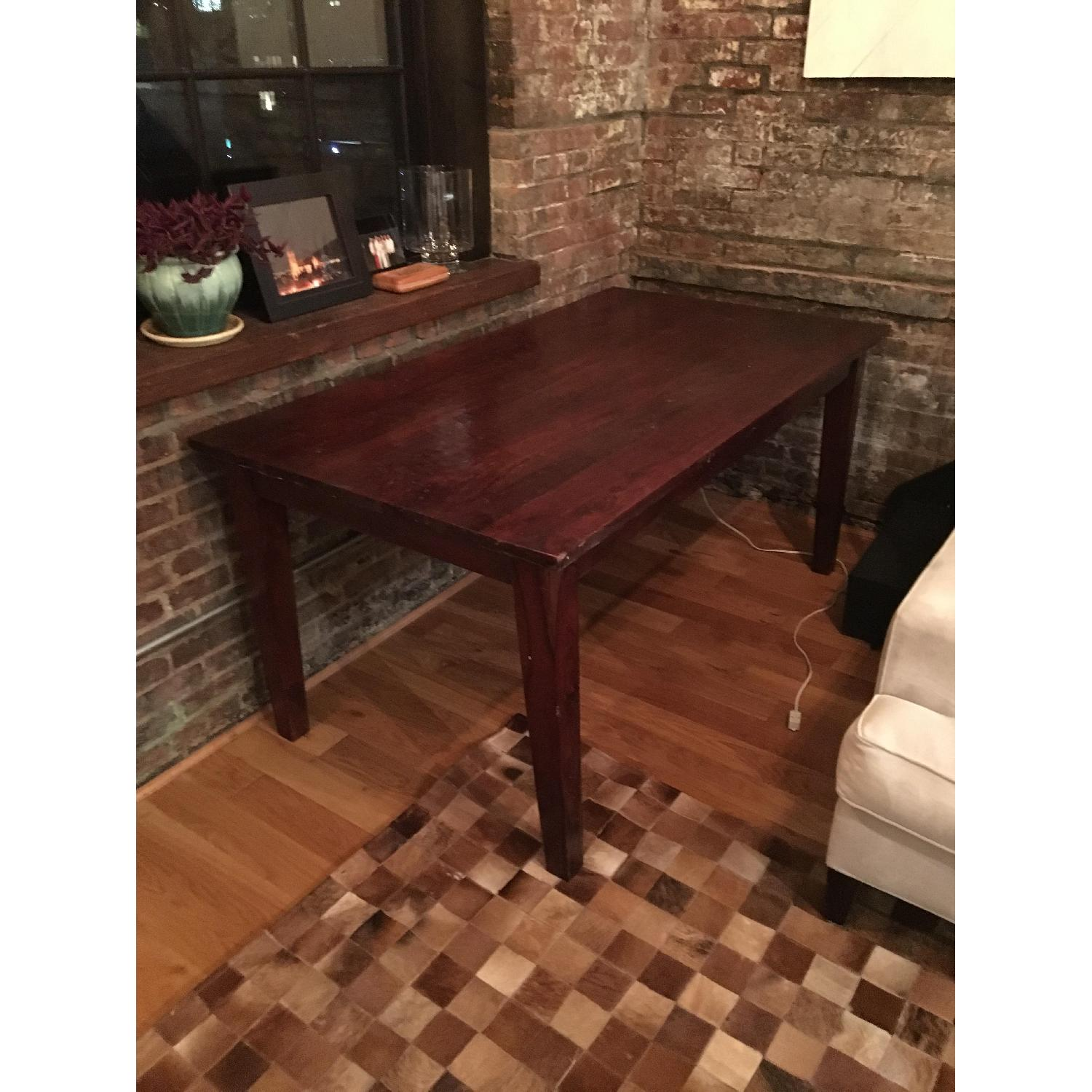 Restoration Hardware Dining Table in Cherry Finish - image-1