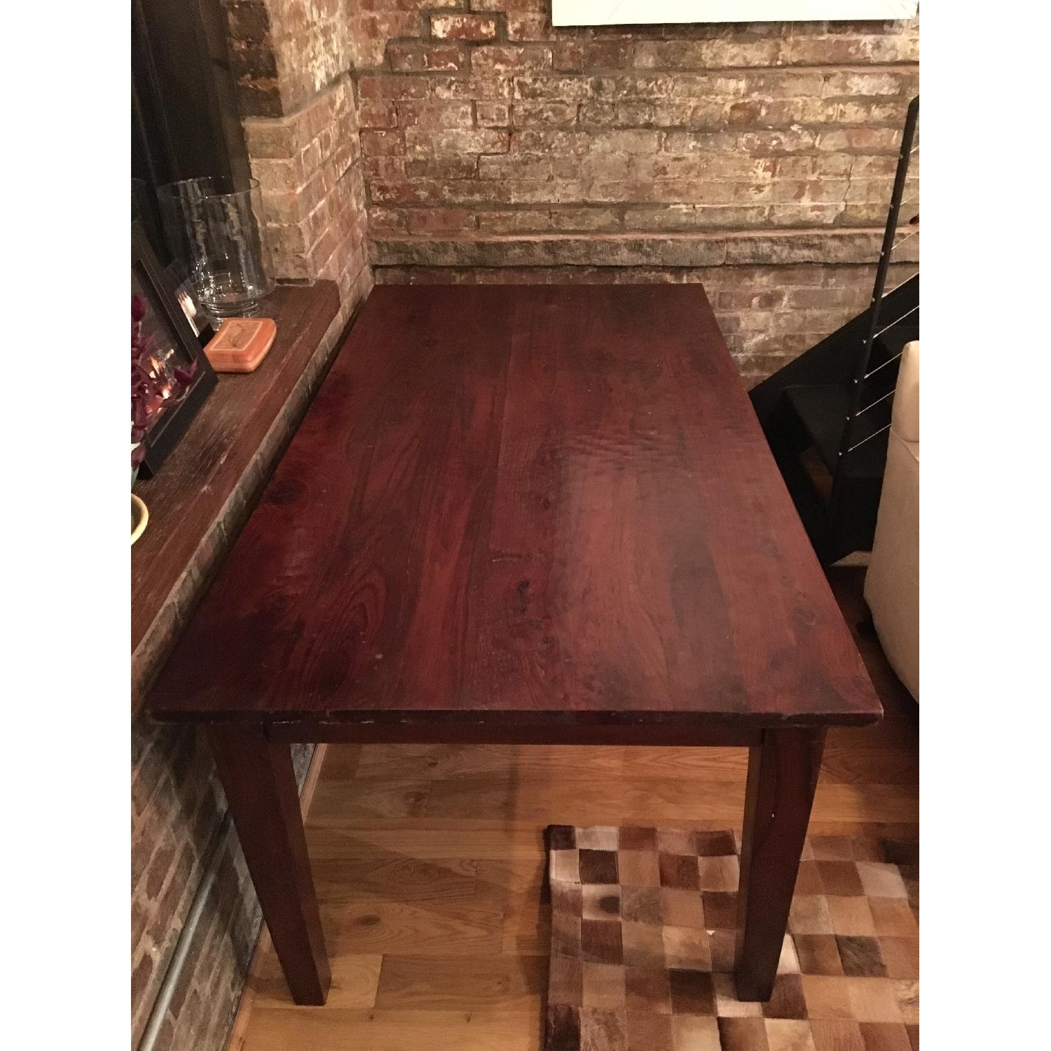 Restoration Hardware Dining Table in Cherry Finish - image-2